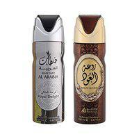LATTAFA KHALTAAT AL ARABIA ROYAL DELIGHT 200ML +LATTAFA ROUAT AL OUD DEODORANT 200ML