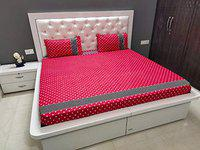 Livmoda Cotton 300 TC Fitted Bedsheet (Queen_Multicolour)