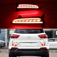 Carmart CRETA Rear Bumper DRL Reflector Back Light for Creta upto2017