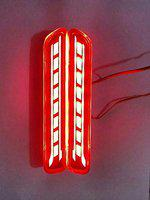CARIZO Car Reflector LED Brake Light for Rear Bumper DRL with Wiring Red C Set of 2 for Maruti Ignis