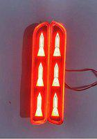 CARIZO Car Reflector LED Brake Light for Rear Bumper DRL with Wiring Red D Set of 2 for Maruti Ritz