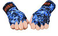 AURION Cotton Twin Pack Boxing Hand Wraps Mexican Bandage Muay Thai Pro Blood Red Wrap Kickboxing Glove (Camo-Blue, 108 Inches)