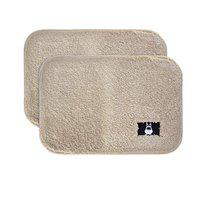Hokipo Premium Anti Slip Microfiber Door Mats For Home And Bathroom (60X40 Cm, Cream) -Set Of 2