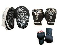 Byson Focus Pad Curved with Boxing Gloves and Hand Wrap for Boxing, Taekwondo,MMA,Muaythai, Karate