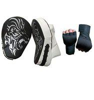 Byson Focus Pad Curved with Hand Wrap for Boxing, Taekwondo,MMA,Muaythai,Karate