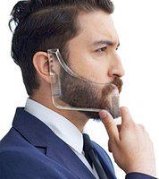 Fully Beard Comb Shaper Transparent For Men And Boys For Home And Salon Use Pack Of 1 (beard comb transparent)