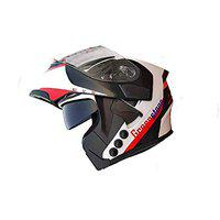 Green Stone Smart Dual Bluetooth Helmet With Brake/Indicator Light & Voice Assistance Function 600MM (Large)