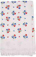 Niranj Cotton Bath White Towels Set of 1 with Icons Printed (1)