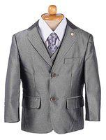 Yellow Bee 5 Piece Suit Set for Boys, Grey, 0-1 Year