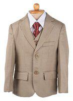 Yellow Bee 5 Piece Suit Set for Boys, Khaki, 0-1 Year