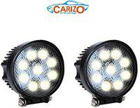 CARIZO Car 9 LED Aux Fog Lights for Volkswagen Polo GT (Round,Set of 2)