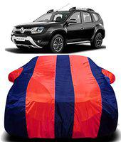 DRIZE New 2019 Renault Duster Car Cover Waterproof with Triple Stitched Fully Elastic Ultra Surface Body Protection (RED Stripes)