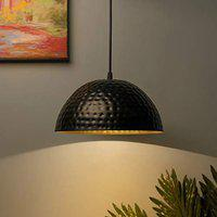 Homesake Rustic Antique Hammered Wall Sconce Hanging Pendant Ceiling Decorative Vintage Chandelier For Living Room , Home, Bedroom , Hall Jhumar Lighting , Both Indoor Outdoor - Made In India Products - 10 Inch Pack of 1 - Black