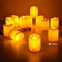 ARCHIES Valentines Day Gifts of Love -Plastic Led Candle with Realistic Swing Flameless Light (Set of 3)-Love Gifts for Girlfriend, Boyfriend, Husband, Wife, Couple, Ambience