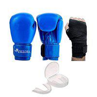 VELLORA Combo of Boxing Mouth Gum Guard, Boxing Gloves and Boxing Wrap for Men & Women