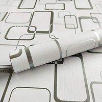 WOW Interiors PVC Easily Removable Square Peel and Stick Self Adhesive Wallpaper (Multicolour, 200 X 45 cm)