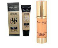 Teen.Teen Combo of Flawless Finish Super Coverage Matte Soft BB Cream and Makeup Base Foundation