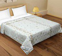 Stylla AC Comforter Double Bed Traditional Winter Quilt- Cream