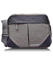 Adamson Unisex Side Cross Grey slingbag, messanger Bag, Side Bag, Executive Bags for Travels, College, Business, Holiday Trip ASB-062