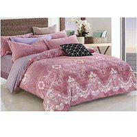 Stylla Ornate Super Soft Warm Bedsheet Set with 2 Pillow (Size-250x270cm)