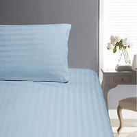 Aspire Cotton 300 TC Fitted Bedsheet (Silver_Single)