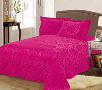 Stylla Designer Warm Double Bed Sheet with Button on 2 Pillow Cover(230x250cm)