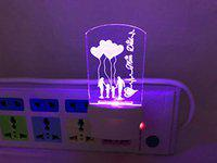 UKANI 3D Mom & Dad Acrylic Night Lamp with 7 Color Changing Light (Size 4 Inch) for Birthday Gift