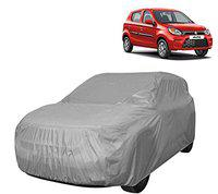 AllExtreme A7002 Car Body Cover for Maruti Suzuki Alto Custom Fit Dust UV Heat Resistant for Indoor Outdoor SUV Protection (Silver Without Mirror)