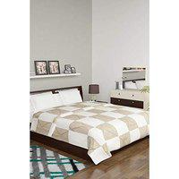 Spaces HomeStop Essentials Polyester Cotton Checked Double Bed Quilt (Multicolour)