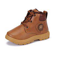SWIGGY Casual Shoes, Lace Up, Boots Shoes,Canvas Shoes for Boys (1582) Tan