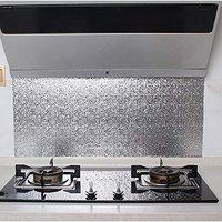 FEELING MALL Aluminum Foil Sticker Self-Adhesive Thickening Cabinet Paper Home Decoration Sticker Waterproof Kitchen Stickers for Kitchen Oil Proof High Temperature Stove Tin Foil (Multi (2 MT))