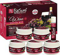ForSure Wine Facial Kit with Face Serum Instant Radiance Shine & Youthful Glow Facial Kit (300 Gm)