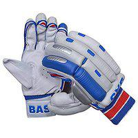CW BAS Player Protector Cricket Batting Glove Right Hand & Left Hand for Men White Blue (Right)