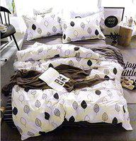 House of Sensation Mr and Mrs Double Bedsheets Size 230cm 250 cm - with 2 Pillows Covers of 46cm 69 cm *Trend : All Season*