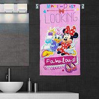 Sassoon Disney Minnie & Friends Pink (Official Merchandise) 380 GSM 100% Cotton Kids Bath Towel with Gift Box - 60 x 120 cm