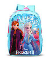 Disney Frozen2 Change is in The Air 20 Ltrs 36 Cms Blue & Pink School Bag/Backpack