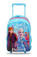 Disney Frozen2 Change is in The Air 30 Ltrs 41 Cms Blue & Pink School Bag/Backpack with Trolley