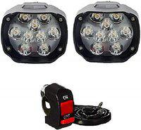 M Mod Con 9 LED Fog Light Pack of 2 with Free Switch
