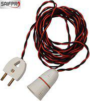 SAIFPRO Safe-Ex White Bulb Holder with Flexible Wire and 2 Pin Plug (2 m)