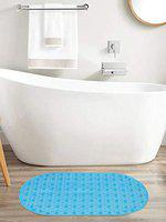 Clasiko Anti Slip Bathroom Mat; Shower Mat; Bathtub Mat; Bath Mat with Suction Cups; Blue