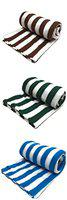 Supreme Home Collective Printed Fleece 3 Single AC Blankets Colored Stripes -Brown,Green,Blue
