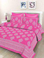 Rajdevi Jaipur Prints Double Printed 1 Bedsheet with 2 Pillow Covers 220 X 240 cm's