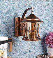 Roshni & Light & Italian Style Metal and Glass Wall Wall Lamp Lighting to DECOR (Copper Antique)