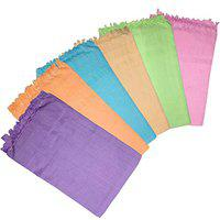 Niranj Soft Cotton Bath Towels-Solid Plain Color Bath Towel(Pack of 6)-(75 X150Cm)