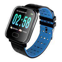 Opill Wireless Bluetooth Waterproof Bluetooth A6 Fitness Band SmartWatch/Activity Tracker/Smart Band Fitness Band for Men, Women, Boys, Girls - (Blue Color)
