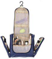 CLICKUS Travel Hanging Toiletry Bag for Men and Women (Navy Blue)
