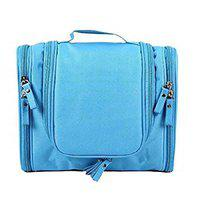 CLICKUS Travel Hanging Toiletry Bag for Men and Women (Sky Blue)