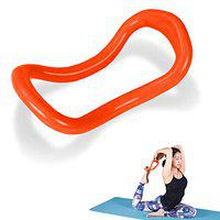 FITSY Yoga Ring Yoga Circle Stretch Ring Fascia Massage Workout Pilates Ring Fitness Home Gym Accessories, 23 x 12 cm, Orange