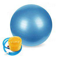 Letsplay Exercise Ball (Multiple Sizes) for Fitness, Stability, Balance & Yoga - Workout Guide & Quick Pump Included - Anti Burst Professional Quality Design (55, Athletic)