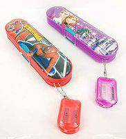 GOYAL Multi Functional Favourite Character Pencil Box with Hanging Dual Sharpener - Set of 2